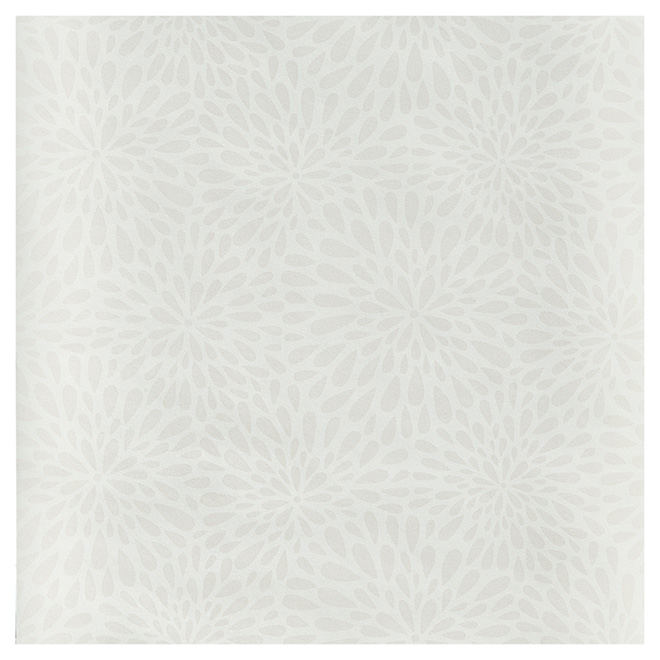 "Wallpaper - Flowers - 20.5"" x 33' - Beige"