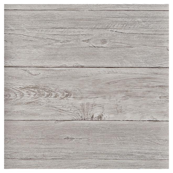 papier peint allure de bois d color 20 5 x 33 39 gris rona. Black Bedroom Furniture Sets. Home Design Ideas