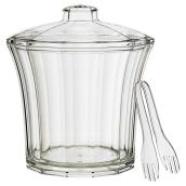 Acrylic Insulated Ice Bucket with Tongs - 4 Qt - Clear