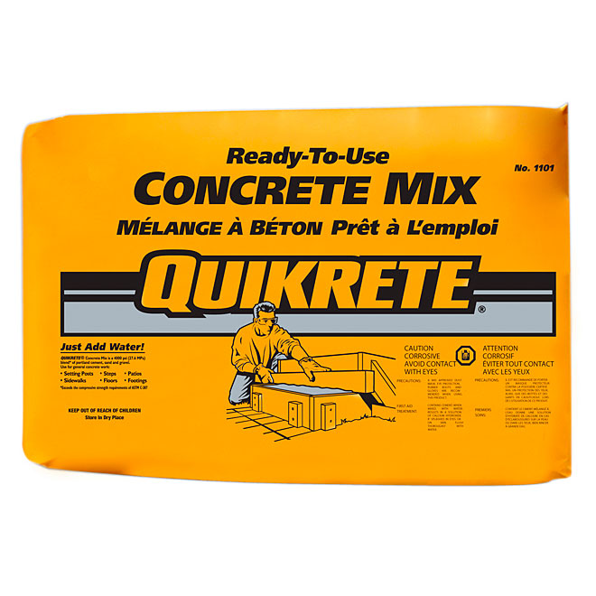 Concrete Mixing Bag : Quikrete concrete mix kg rona