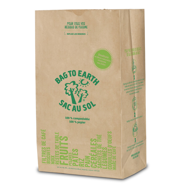 Large Biodegradable Recycled Paper Food Waste Bags