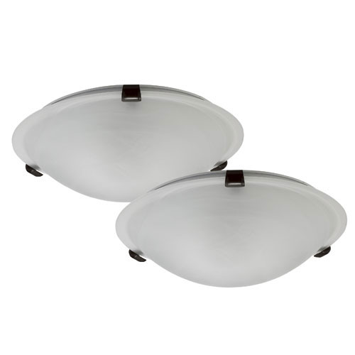 "Set of 2 ""Contemporary"" Flushmounts"