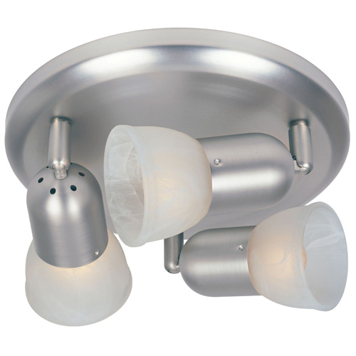 Omni 3-Light Ceiling Fixture - Satin Nickel