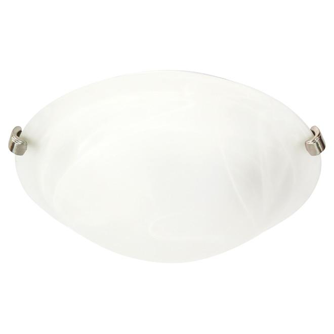 Indoor lighting ceiling lights rona flush mount light whisper 17w led white mozeypictures Choice Image