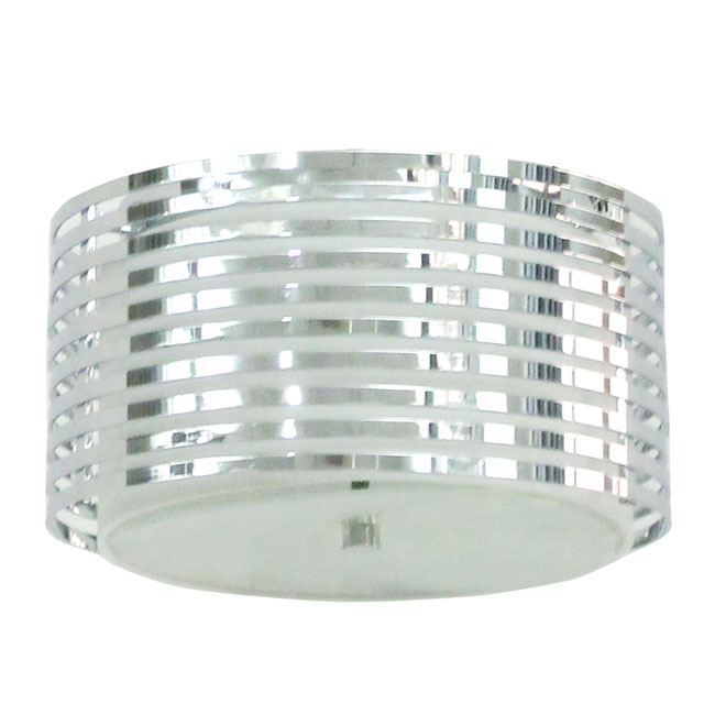 Flush-Mount Light - 2 Lights - Chrome