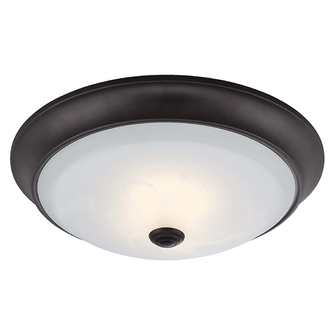 Dimmable Flush-Mount Light - LED - Oiled Bronze