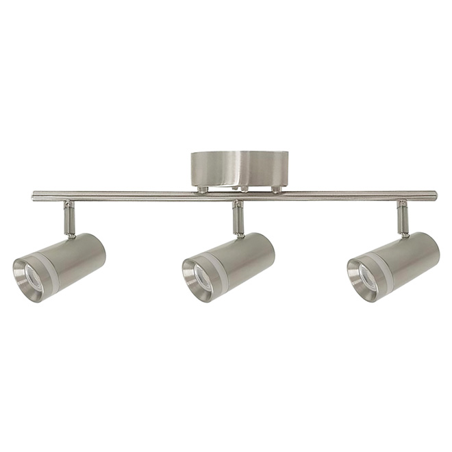 Track Light - Germany - 3 Lights - LED - Brushed Nickel