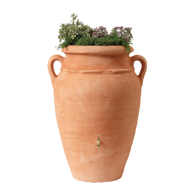 """Antique Amphora"" 2-in-1 Rain Collector and Planter -250L"