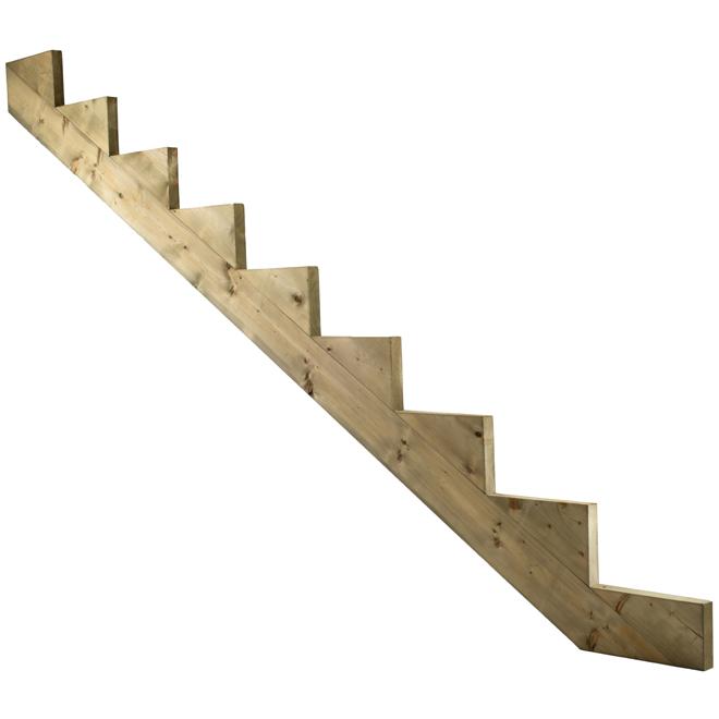 9 step stringer rona for Fabriquer un escalier exterieur