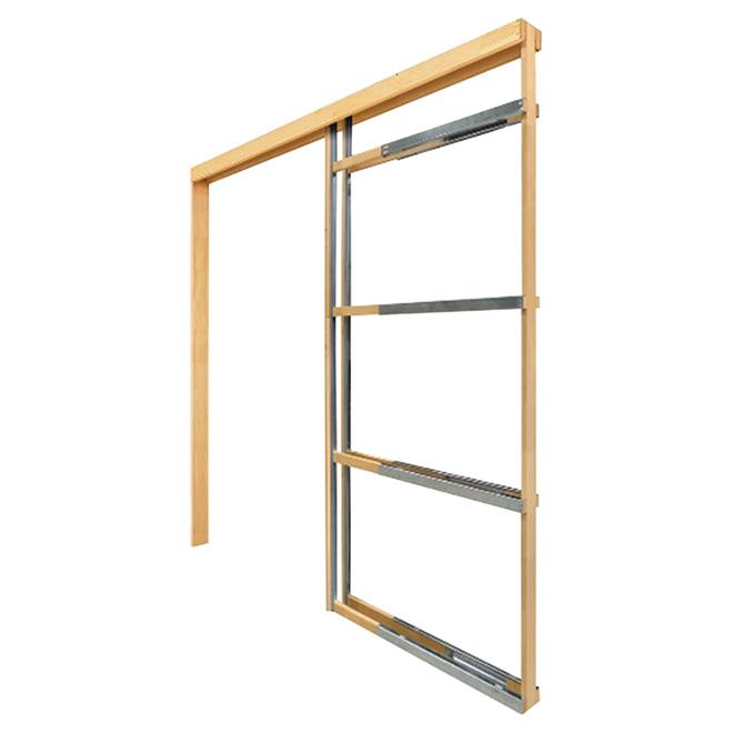 B ti de porte escamotable ajustable 24 36 bois for Porte exterieur rona
