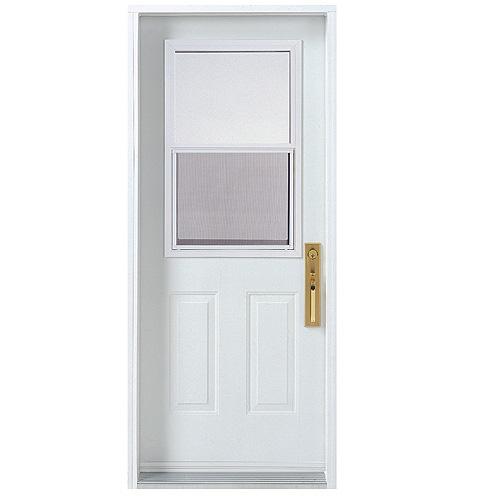 Porte en acier droit rona for Porte exterieur rona