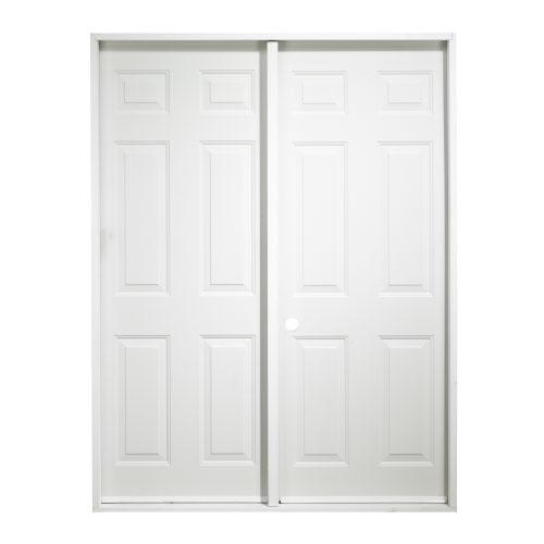 Porte jumelle pour cabanon rona for Masonite porte exterieur
