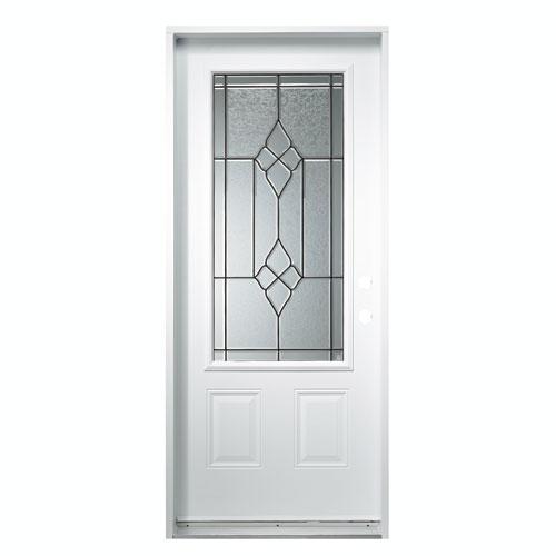 Porte en acier gauche rona for Moulure porte exterieur