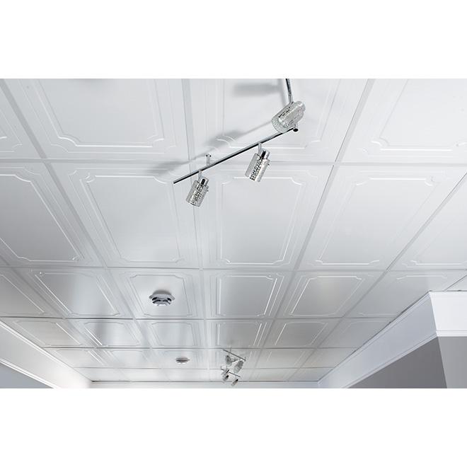 Tuile plafond oasis 2 39 x 4 39 boite de 4 rona for Modele de plafond suspendu