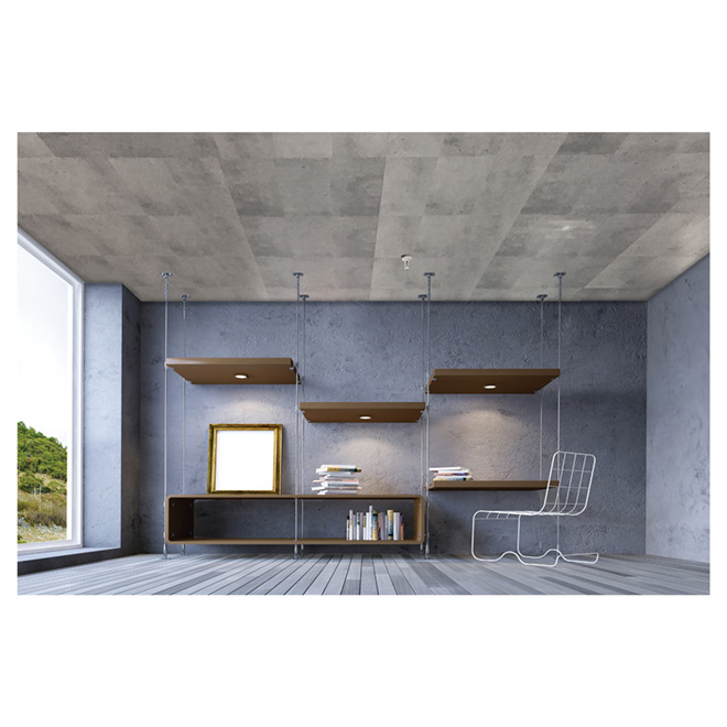 "Concrete Effect Ceiling Tile - 24"" x 48"""