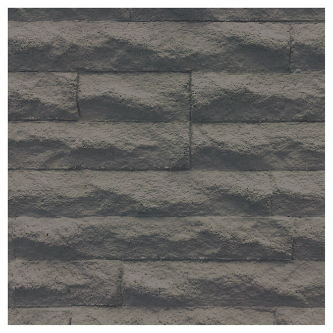 "Zephir Wall Panel - 12"" x 36"" - Grey"