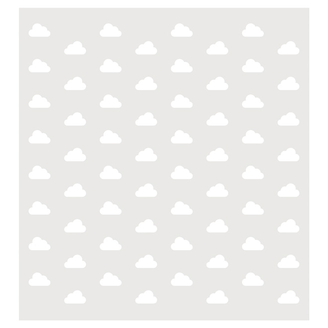 "Removable Vinyl Wall Decal - ""Cloudy"" - 2-Pack"