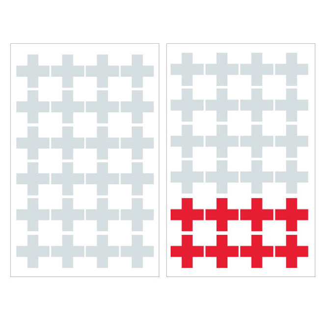 "Removable Vinyl Wall Decal - ""Cross"" - 2-Pack"