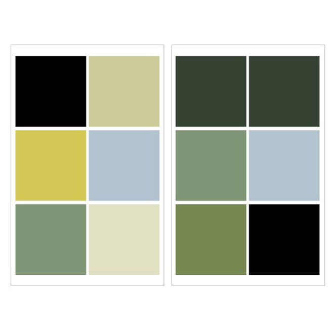 "Removable Vinyl Wall Decal - ""Large Squares"" - 2-Pack"