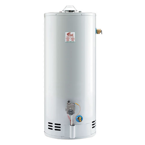 Gas Water Heater 40 Gal - 34 000 BTU - White