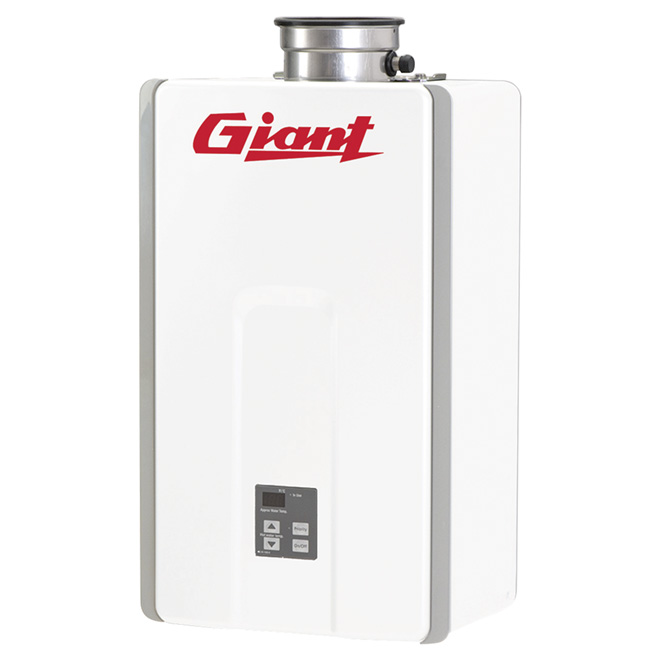 Gas Water Heater - Tankless - 180 000 BTU - White
