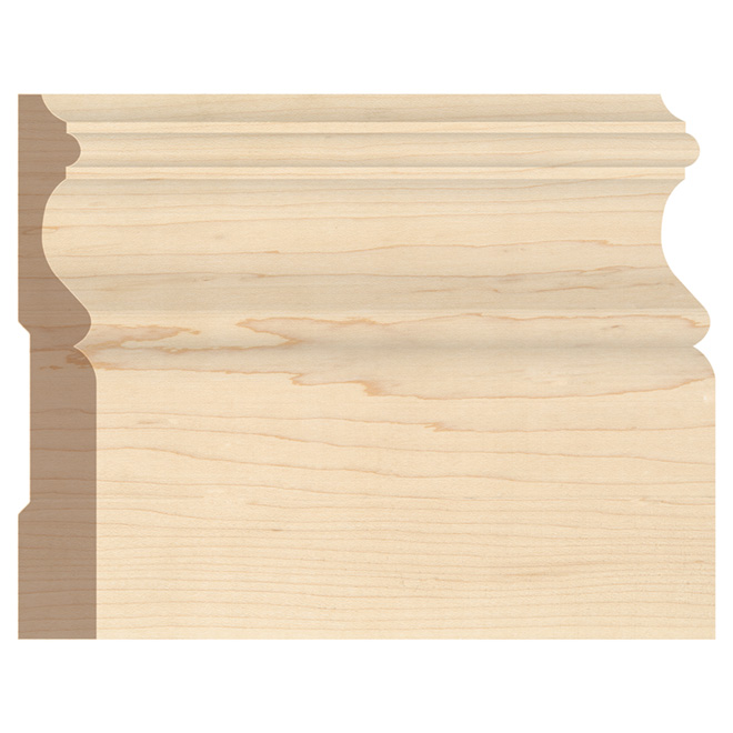"Maple Baseboard - 5/8"" x 4 1/4"" - Natural"