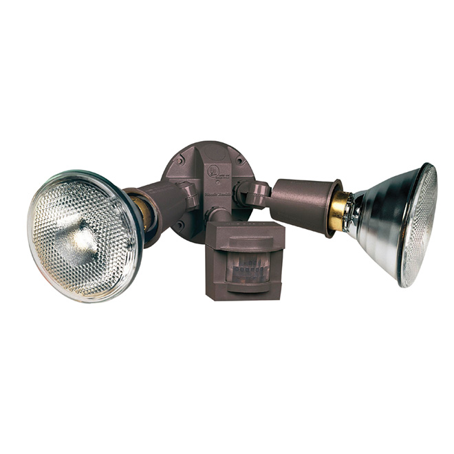 Motion Activated Halogen Security Light Bronze Rona