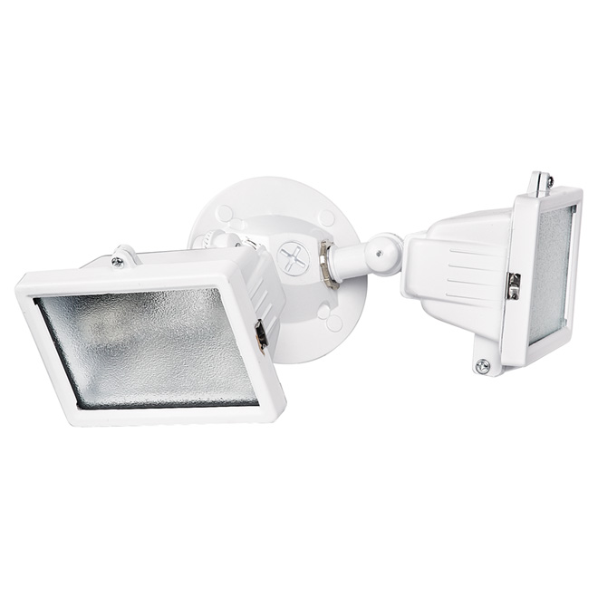 Non-Motion Double Halogen Security Light- White