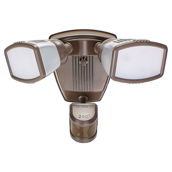 Motion-Activated Dual LED Security Light - Bronze
