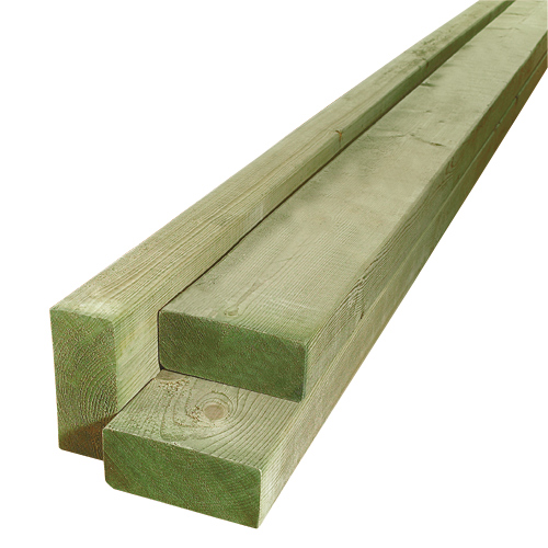 Treated Wood Green - 2 in x 4 in x 16 ft