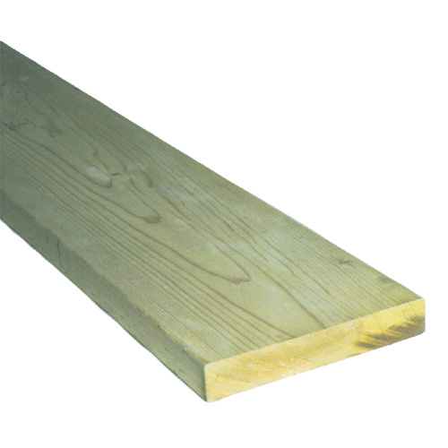 Treated Wood Green - 2 in x 10 in x 10 ft