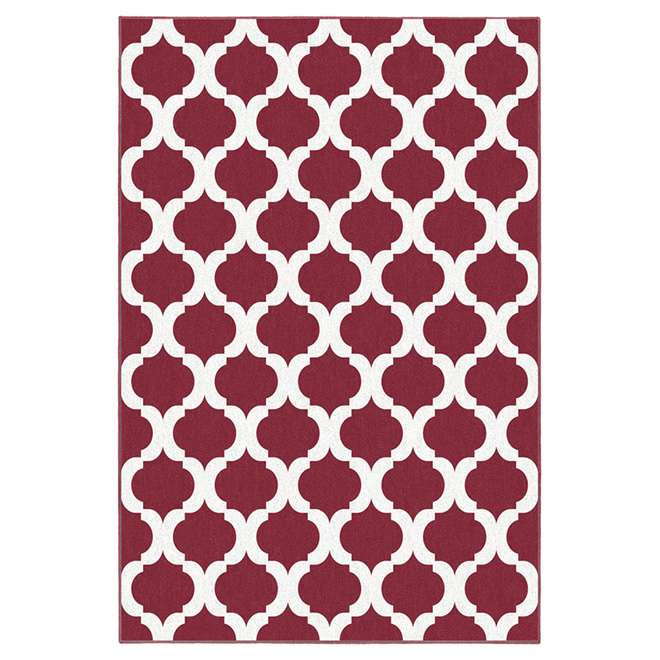 """Tregony"" Interior Rug 5' x 7' - Red"