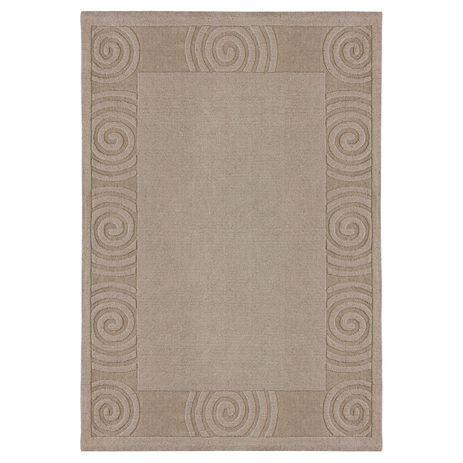 """Platinum Desolo"" Decorative Carpet - Taupe - 5' x 7'"
