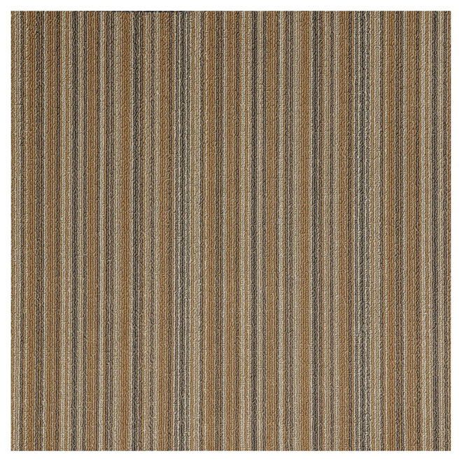 "Carpet Tiles - Polypropylene - 20"" x 20"" - Beige - 20/Box"