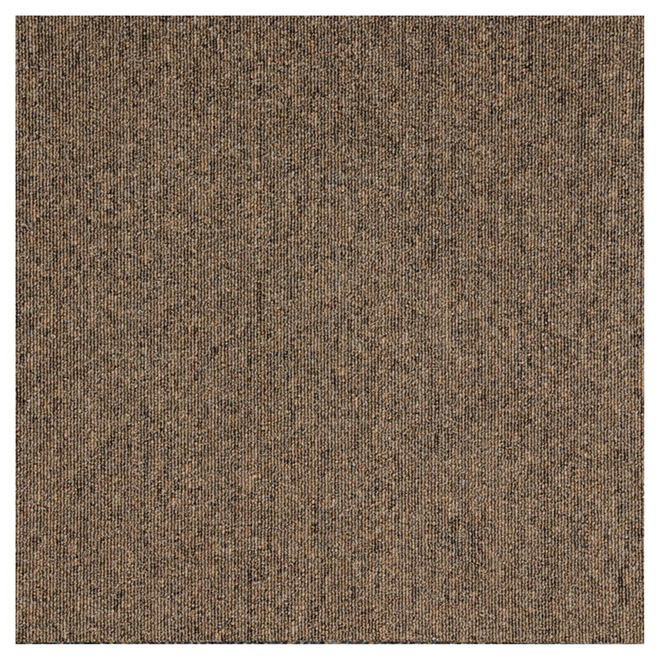 "Carpet Tiles  -Polypropylene - 20"" x 20"" - Coffee - 20/Box"