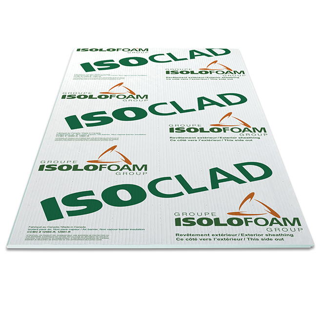 "Isoclad Air-Barrier Panel - 1 1/2"" x 4' x 9'"