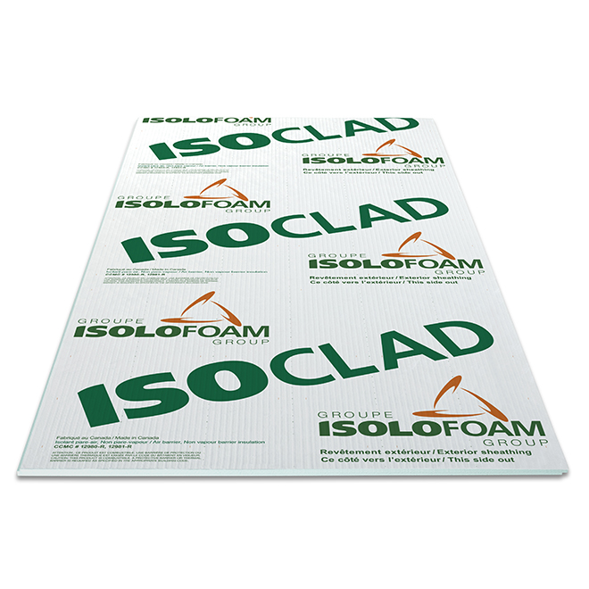 "Isoclad Air-Barrier Panel - 1"" x 4' x 8'"