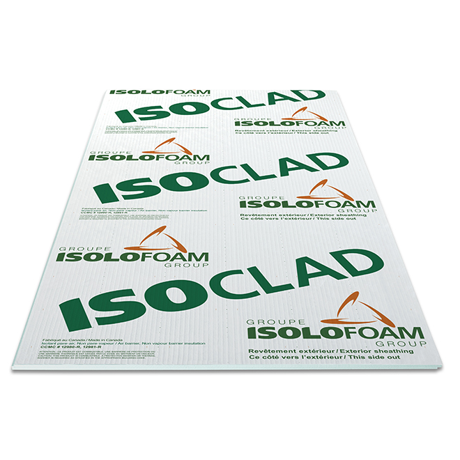 "Isoclad Air-Barrier Panel - 1 1/2"" x 4' x 8'"