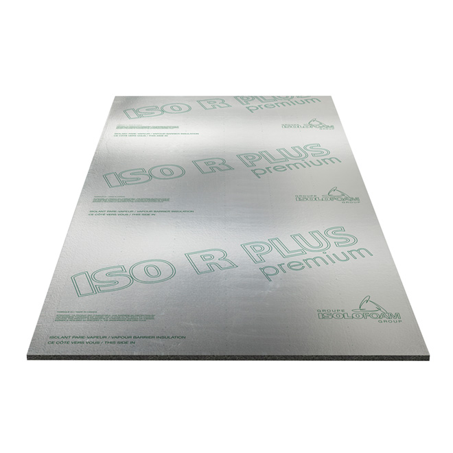 "ISO R PLUS Vapour-Barrier Panel - 1/2"" x 4' x 97 1/4"""
