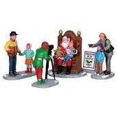 Photo with Santa Christmas Figurines - 5 Pieces