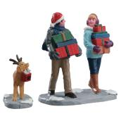 Christmas Party Figurines - Resin - Multicolor - 2/Pk