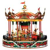 Carnival Carousel with Music- Resin - 10.5