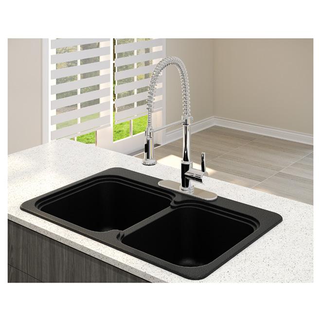 Elegant Vienna 210 Double Kitchen Sink RONA