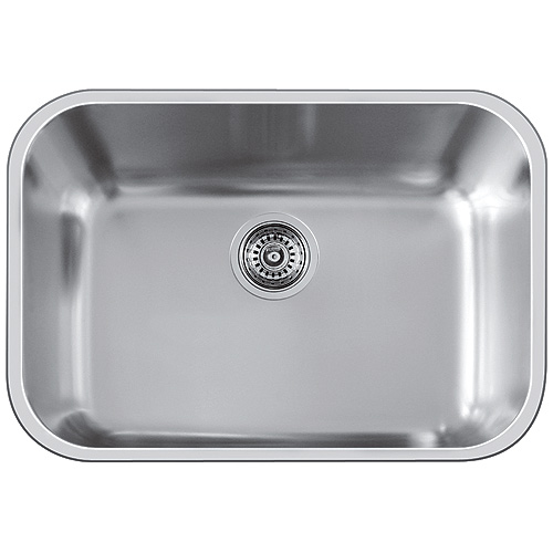 "Single Sink Essential U - 24 x 17"" - Stainless Steel"