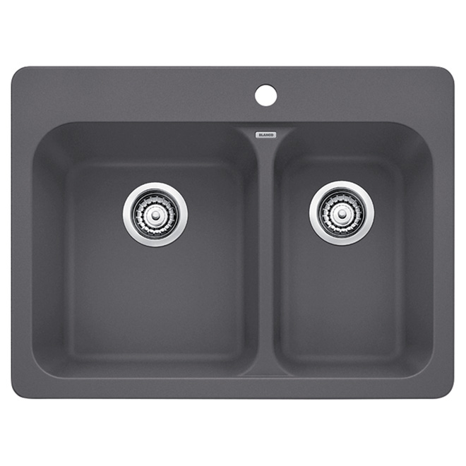 blanco silgranit vision 15 kitchen sink cinder - Rona Kitchen Sink