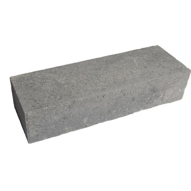 Bloc pour muret de jardin en b ton 18 39 39 x 6 39 39 gris for Bloc beton jardin