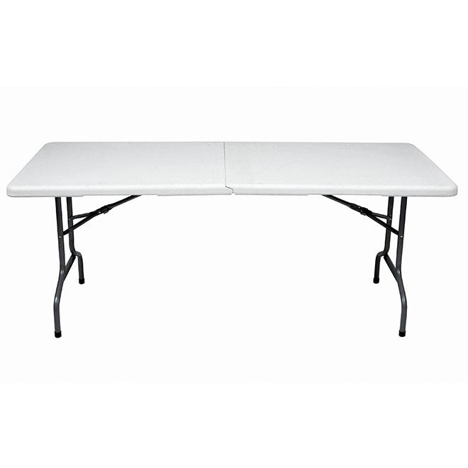 table pliante en plastique et acier 30 x 72 blanc rona. Black Bedroom Furniture Sets. Home Design Ideas