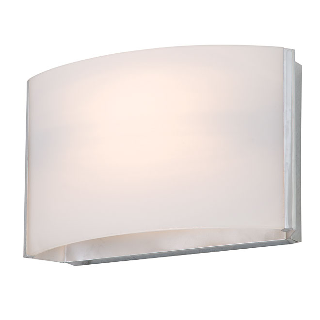 1-Light Wall Sconce - Glass/Metal - Chrome