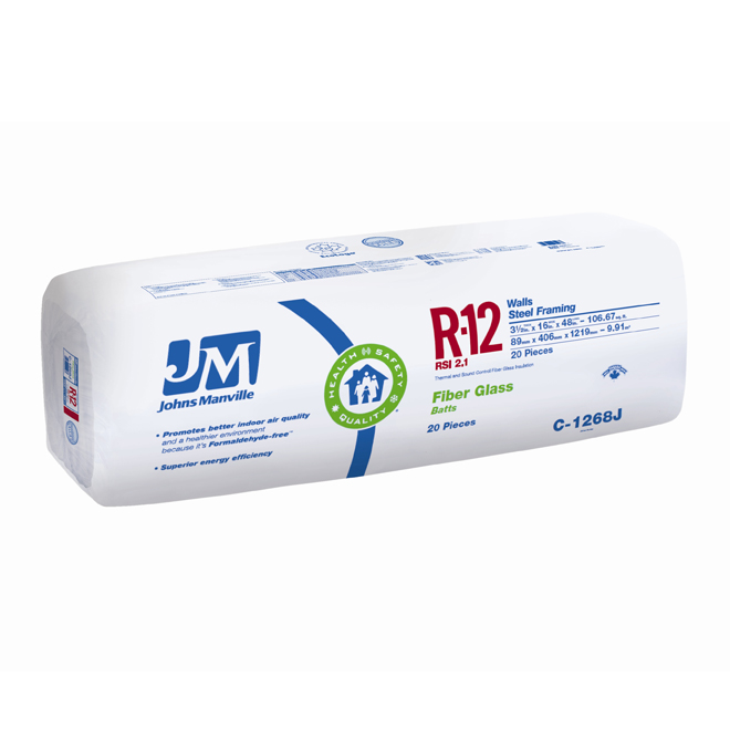 Fiberglass Insulation R12 - 106,67 sq.ft.