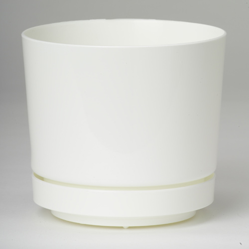 Pot and Saucer - White